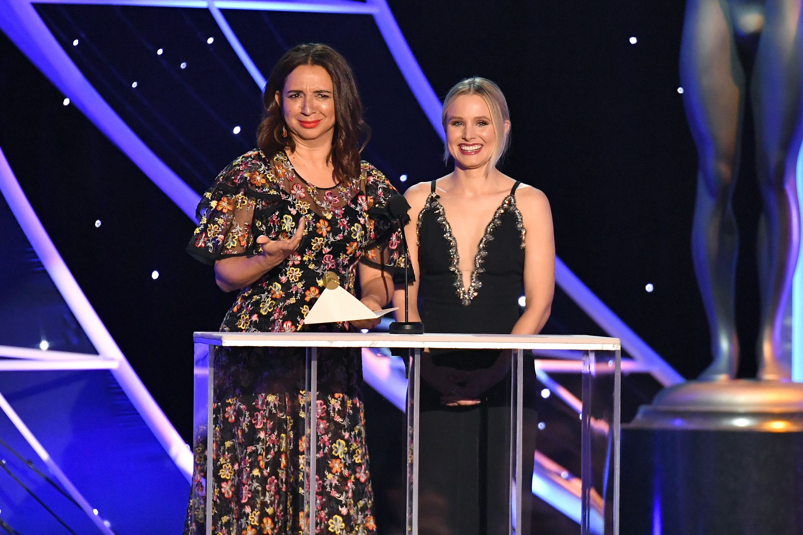 Maya Roudolph and Kristen Bell24th Annual Screen Actors Guild Awards, Show, Los Angeles, USA - 21 Jan 2018