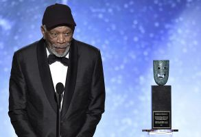 Morgan Freeman accepts the Life Achievement Award at the 24th annual Screen Actors Guild Awards at the Shrine Auditorium & Expo Hall, in Los Angeles24th Annual SAG Awards - Show, Los Angeles, USA - 21 Jan 2018