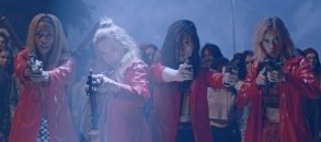 Abra, Odessa Young, Hari Nef and Suki Waterhouse appear in Assassination Nation by Sam Levinson, an official selection of the Midnight program at the 2018 Sundance Film festival. Courtesy of Sundance Institute.  All photos are copyrighted and may be used by press only for the purpose of news or editorial coverage of Sundance Institute programs. Photos must be accompanied by a credit to the photographer and/or 'Courtesy of Sundance Institute.' Unauthorized use, alteration, reproduction or sale of logos and/or photos is strictly prohibited.