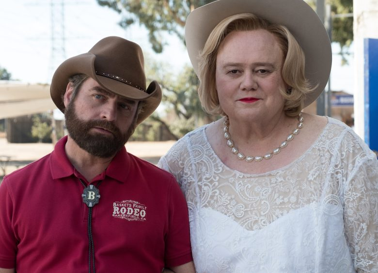 "BASKETS -- ""Wild Horses"" --Season 3, Episode 1 (Airs Tuesday, January 23, 10:00 pm/ep) -- Pictured: (l-r) Zach Galifianakis as Dale Baskets, Louie Anderson as Christine Baskets. CR: Colleen Hayes/FX"