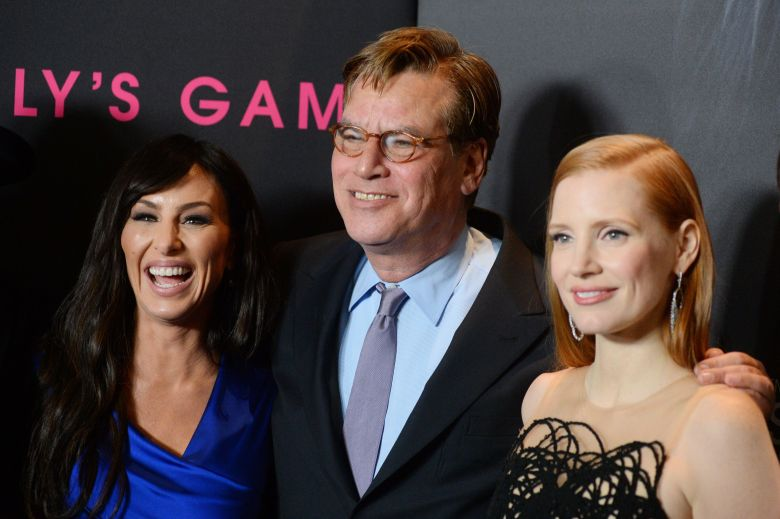 Molly Bloom, Aaron Sorkin and Jessica Chastain'Molly's Game' film premiere, Arrivals, New York, USA - 13 Dec 2017