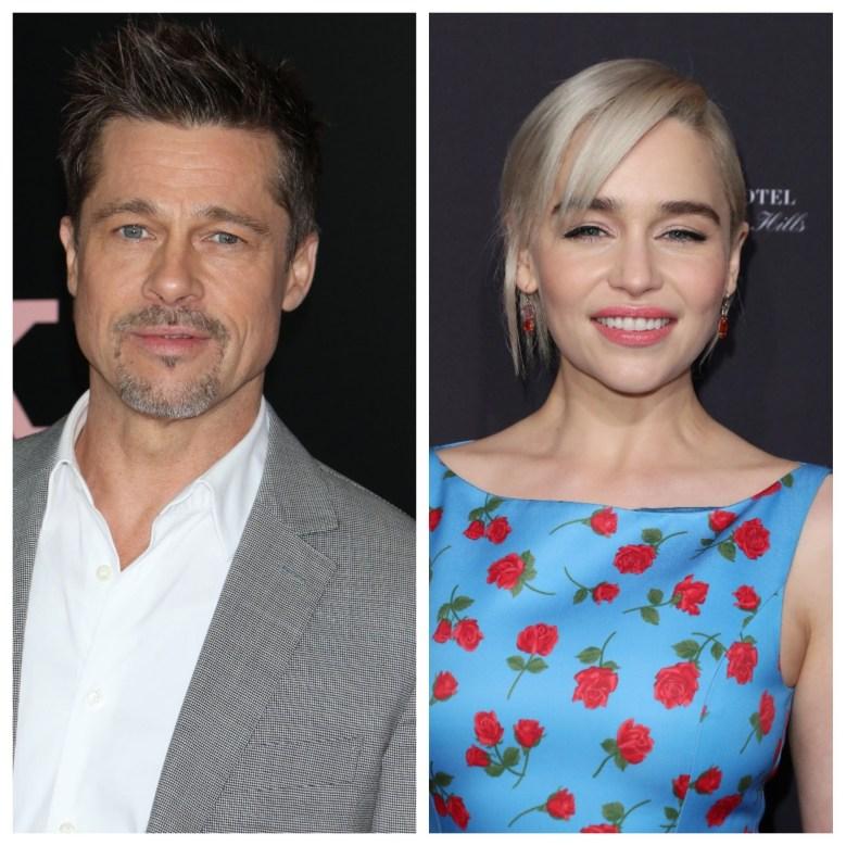 Brad Pitt and Emilia Clarke
