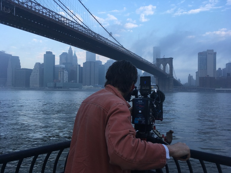 "Location shooting for ""Three Identical Strangers"""