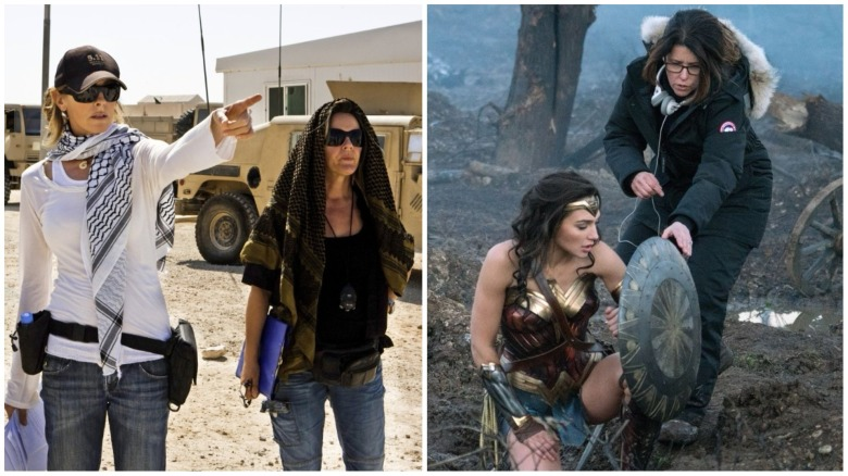 Kathryn Bigelow and Patty Jenkins on set.