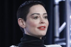 """NBCUNIVERSAL EVENTS -- NBCUniversal Press Tour, January 2018 -- E!'s """"CITIZEN ROSE"""" Session -- Pictured: Rose McGowan, Artist/Activist and Executive Producer -- (Photo by: Evans Vestal Ward/NBCUniversal)"""