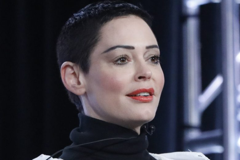 "NBCUNIVERSAL EVENTS -- NBCUniversal Press Tour, January 2018 -- E!'s ""CITIZEN ROSE"" Session -- Pictured: Rose McGowan, Artist/Activist and Executive Producer -- (Photo by: Evans Vestal Ward/NBCUniversal)"