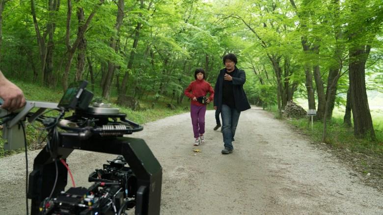 An Seo Hyun and Bong Joon Ho behind the scenes in OKJA