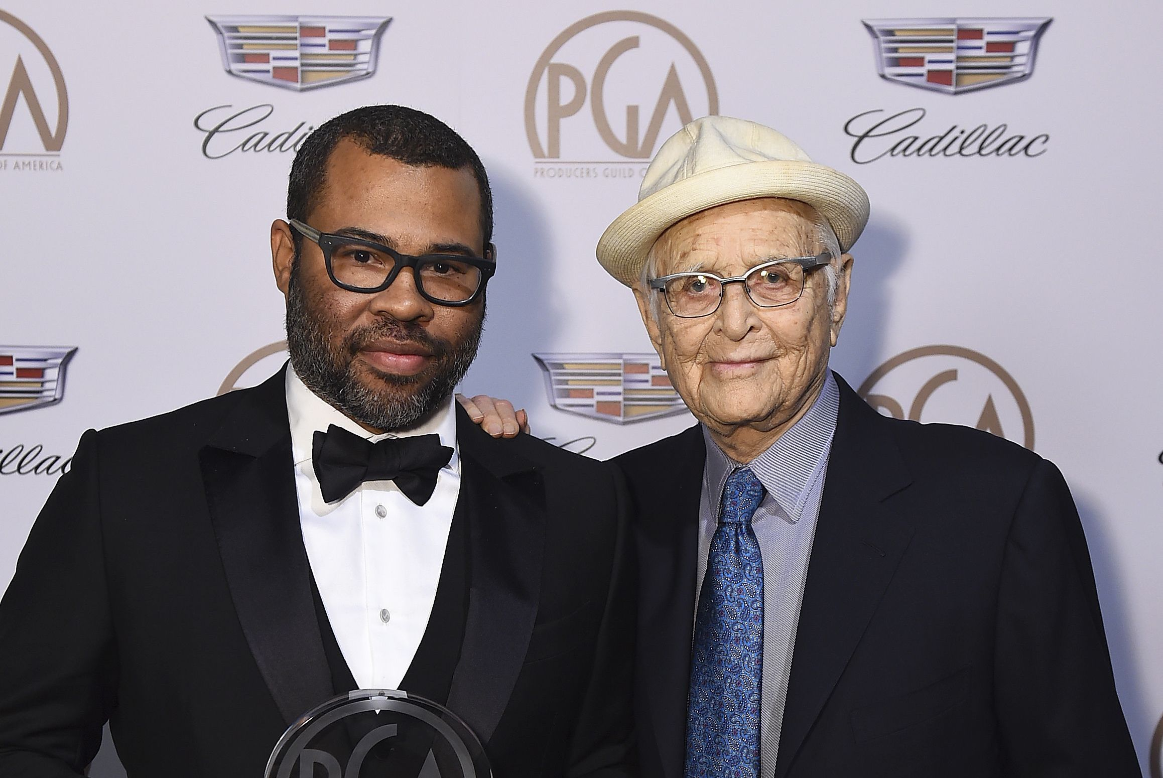 Jordan Peele, Norman Lear. Jordan Peele, recipient of the Stanley Kramer award, left, and Norman Lear attend the 29th Producers Guild Awards presented by Cadillac at Beverly Hilton, in Beverly Hills, Calif29th Producers Guild Awards presented by Cadillac - Inside, Beverly Hills, USA - 20 Jan 2018