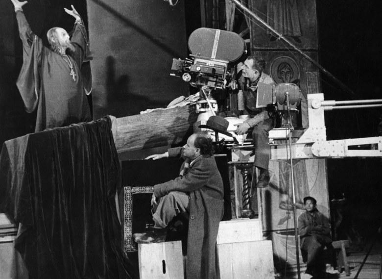 "Sergei Eisenstein on the set of ""Ivan The Terrible"""