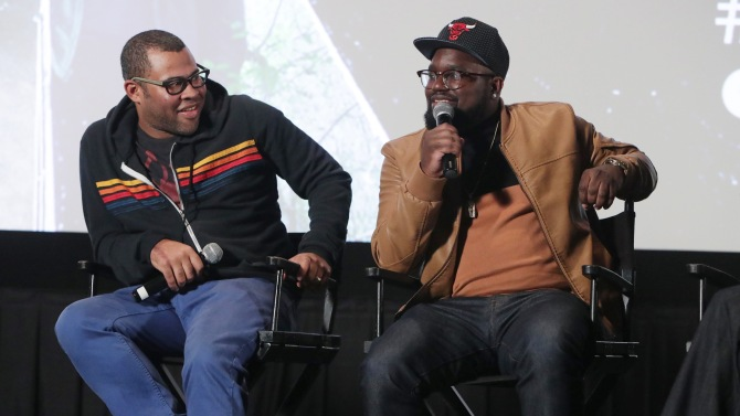 EXCLUSIVE ALL ROUND. WEB - £50 PER PIC . 'MINIMUM PRINT FEES APPLY - PLEASE CALL TO AGREE FEES'.Mandatory Credit: Photo by Eric Charbonneau/REX/Shutterstock (8326178ac)Jordan Peele, LilRel Howery'GET OUT' LA Tastemaker Screening hosted by Chance the Rapper, Los Angeles, USA - 09 Feb 2017