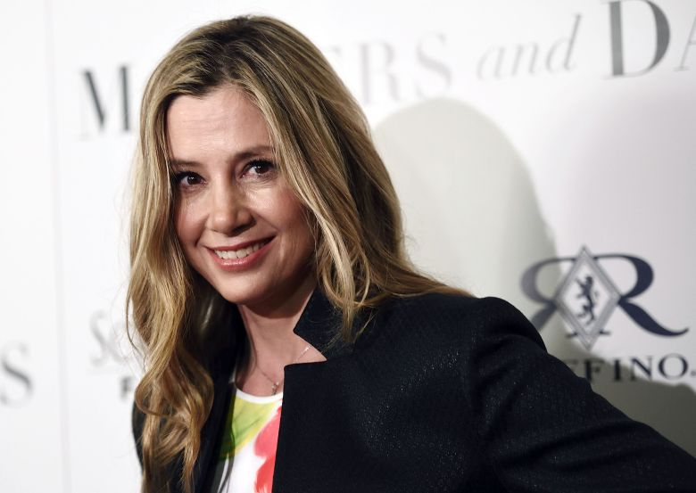 """Mira Sorvino, a cast member in """"Mothers and Daughters,"""" poses at the premiere of the film at the London West Hollywood Hotel Screening Room, in West Hollywood, CalifLA Premiere of """"Mothers and Daughters"""" - Arrivals, West Hollywood, USA"""