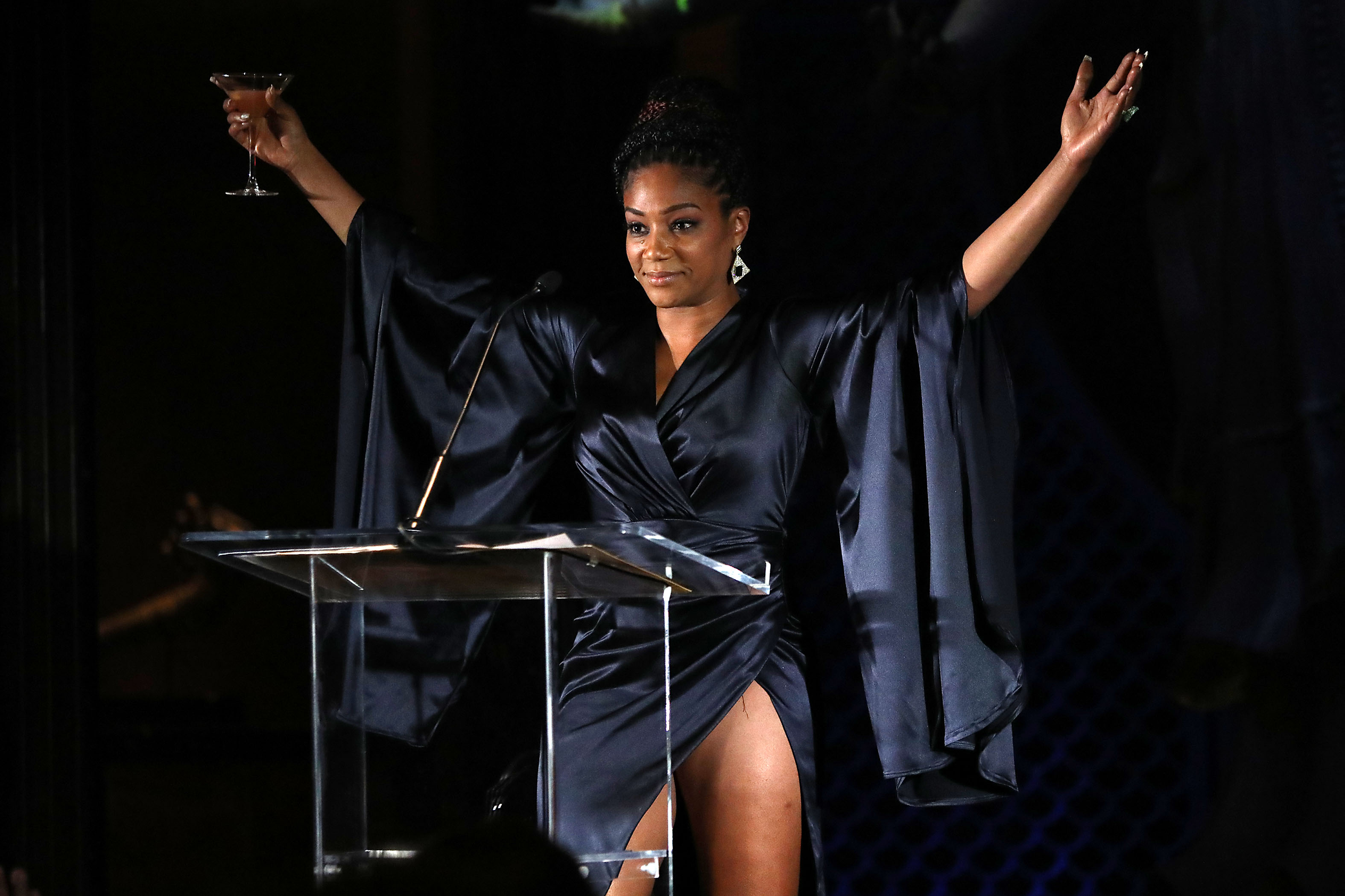 Tiffany Haddish's 18-Minute NYFCC Acceptance Speech Steals Show at Forward-Looking Awards Event