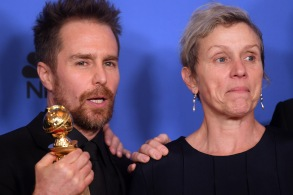 Sam Rockwell and Frances McDormand - Best Motion Picture, Drama - 'Three Billboards Outside Ebbing, Missouri'75th Annual Golden Globe Awards, Press Room, Los Angeles, USA - 07 Jan 2018