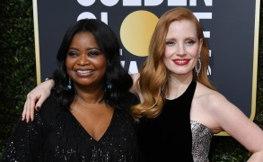 Octavia Spencer and Jessica Chastain75th Annual Golden Globe Awards, Arrivals, Los Angeles, USA - 07 Jan 2018