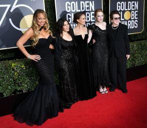 Mariah Carey, America Ferrera, Natalie Portman, Emma Stone and Billie Jean King75th Annual Golden Globe Awards, Arrivals, Los Angeles, USA - 07 Jan 2018