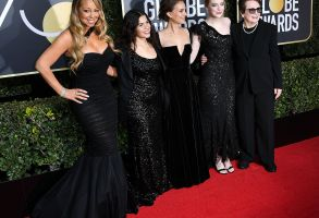 Mariah Carey, America Ferrera, Natalie Portman, Emma Stone and Billie Jean King75th Annual Golden Globe Awards, Arrivals, Los Angeles, USA - 07 Jan 2018