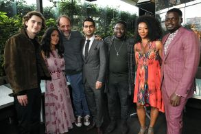 Timothee Chalamet, Salma Hayek, Luca Guadagnino, Kumail Nanjiani, LilRel Howery, Betty Gabriel and Daniel KaluuyaFilm Independent Spirit Awards Nominee Brunch, Inside, Los Angeles, USA - 06 Jan 2018