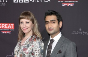 Emily V. Gordon and Kumail NanjianiBAFTA Tea Party, Los Angeles, USA - 06 Jan 2018