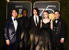 Gaten Matarazzo, Caleb McLaughlin, Finn Wolfhard, Sadie Sink and Noah Schnapp75th Annual Golden Globe Awards, Arrivals, Los Angeles, USA - 07 Jan 2018