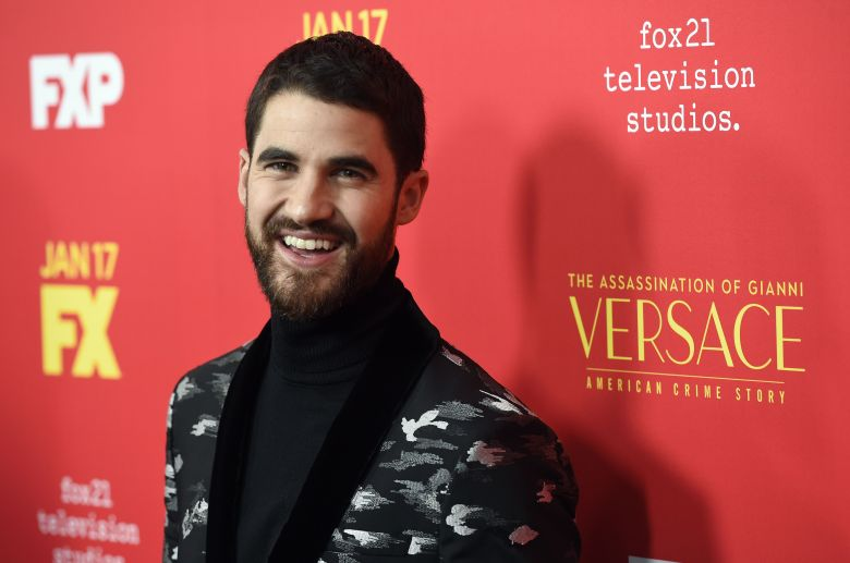 "Darren Criss, a cast member in ""The Assassination of Gianni Versace: American Crime Story,"" poses at a special screening of the television series at the ArcLight Hollywood, in Los AngelesLA Special Screening of ""The Assassination of Gianni Versace: American Crime Story"", Los Angeles, USA - 08 Jan 2018"