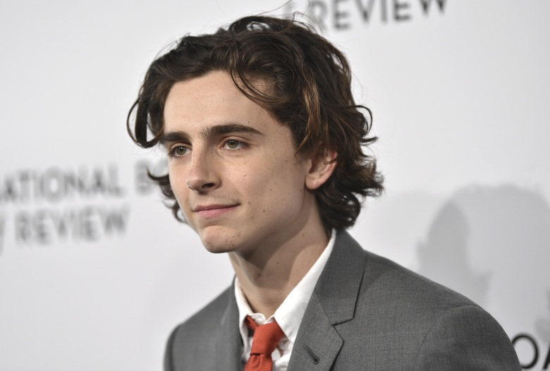 Timothee Chalamet attends the National Board of Review Awards Gala at Cipriani 42nd Street, in New York2018 National Board of Review Awards Gala, New York, USA - 09 Jan 2018