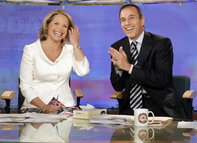 "Katie Couric and Matt Lauer, co-hosts of the NBC Today"" program, open her farewell broadcast in New York. Couric told People in a story published : ""I had no idea this was going on during my tenure or after I left."" She left NBC in 2006 to anchor the ""CBS Evening News"" and has been criticized for not speaking out in the more than a month since Lauer was fired. The show's network, NBC, said an investigation of a Lauer colleague's detailed complaint showed ""inappropriate sexual behavior."" Since, other women have reportedly accused him of harassment and assaultTV Katie Couric Matt Lauer, NEW YORK, USA - 31 May 2006"