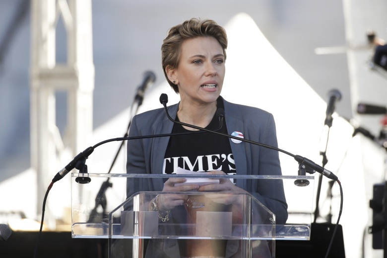 Scarlett Johansson at the 2018 Women's March