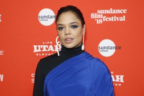 """Actress Tessa Thompson poses at the premiere of """"Sorry To Bother You"""" during the 2018 Sundance Film Festival, in Park City, Utah2018 Sundance Film Festival - """"Sorry To Bother You"""" Premiere, Park City, USA - 20 Jan 2018"""