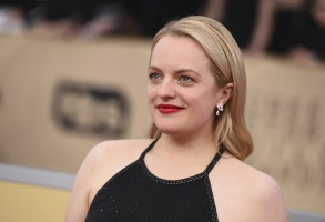 Elisabeth Moss arrives at the 24th annual Screen Actors Guild Awards at the Shrine Auditorium & Expo Hall, in Los Angeles24th Annual SAG Awards - Arrivals, Los Angeles, USA - 21 Jan 2018