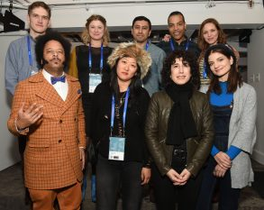 Bo Burnham, Isabella Eklof, Rudy Valdez, Reinaldo Marcus Green, Jordana Spiro, Boots Riley, Christina Choe, Jennifer Fox and Bridey ElliottIndiewire, Canada Goose and YouTube Dinner, Sundance Film Festival, Park City, USA - 21 Jan 2018