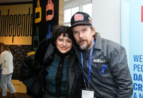 ACLU, Ethan Hawke, Alia ShawkatIndieWire Studio presented by DropBox, Day 3, Sundance Film Festival, Park City, USA - 21 Jan 2018