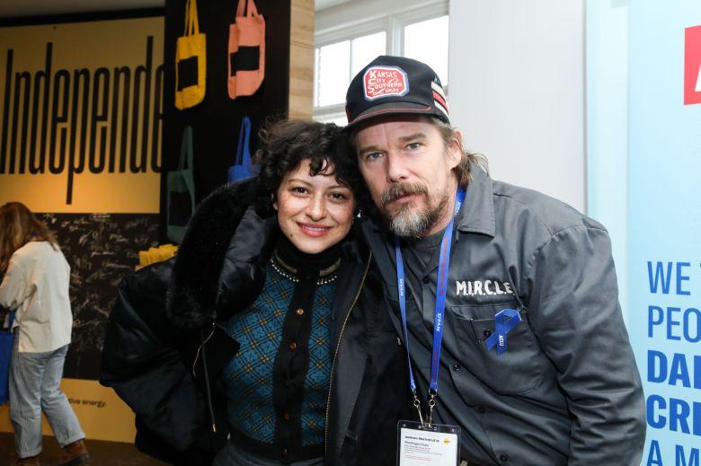 ACLU, Ethan Hawke, Alia ShawkatIndieWire Studio presented by DropBox, Day 3, Sundance Film Festival, Park City, USA - 21 Jan 2018