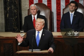 President Donald Trump delivers his State of the Union address to a joint session of Congress on Capitol Hill in WashingtonState Of Union, Washington, USA - 30 Jan 2018