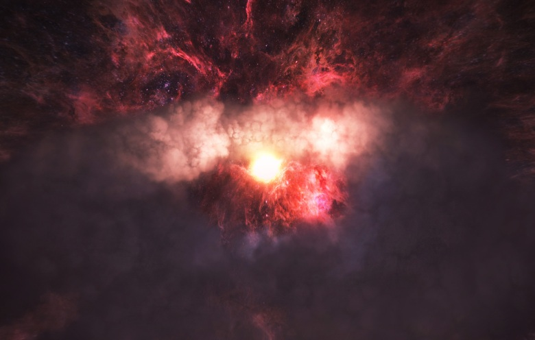 A still image from SPHERES: Songs of Spacetime by Eliza McNitt, an official selection of the New Frontier VR Experiences program at the 2018 Sundance Film Festival. Courtesy of Sundance Institute. All photos are copyrighted and may be used by press only for the purpose of news or editorial coverage of Sundance Institute programs. Photos must be accompanied by a credit to the photographer and/or 'Courtesy of Sundance Institute.' Unauthorized use, alteration, reproduction or sale of logos and/or photos is strictly prohibited.
