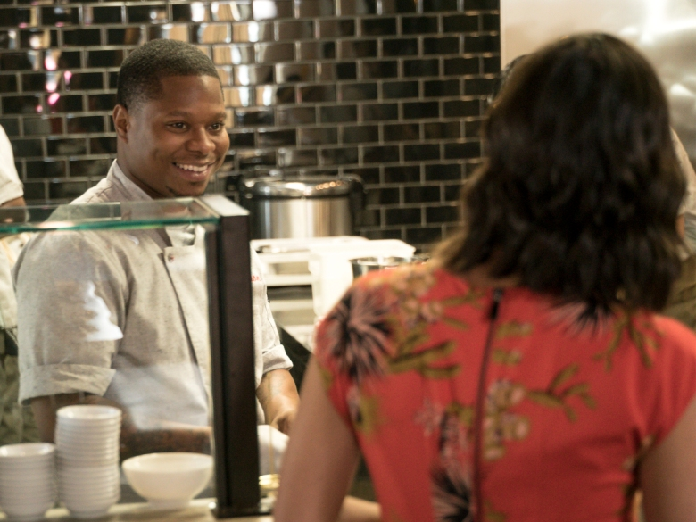 The Chi Season 1 Episode 3 Jason Mitchell and Kristina Emerson