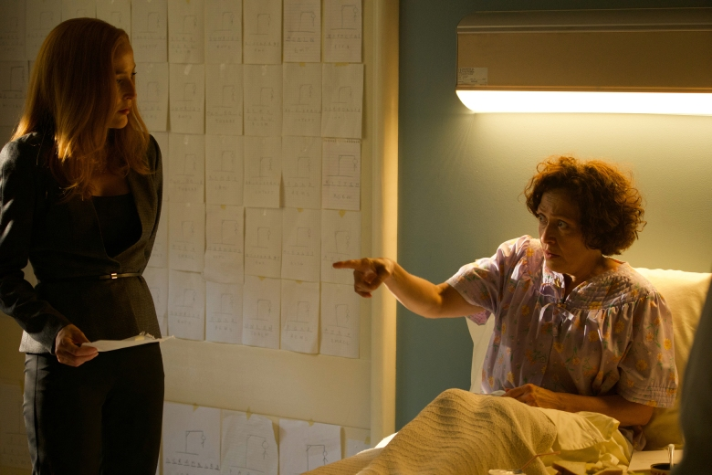"THE X-FILES: L-R: Gillian Anderson and guest star Karin Konoval in the ""Plus One"" episode of THE X-FILES airing Wednesday, Jan. 3 (8:00-9:00 PM ET/PT) on FOX. ©2017 Fox Broadcasting Co. Cr: Shane Harvey/FOX"