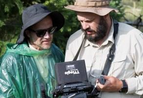 "The Zellners shooting ""Damsel"""