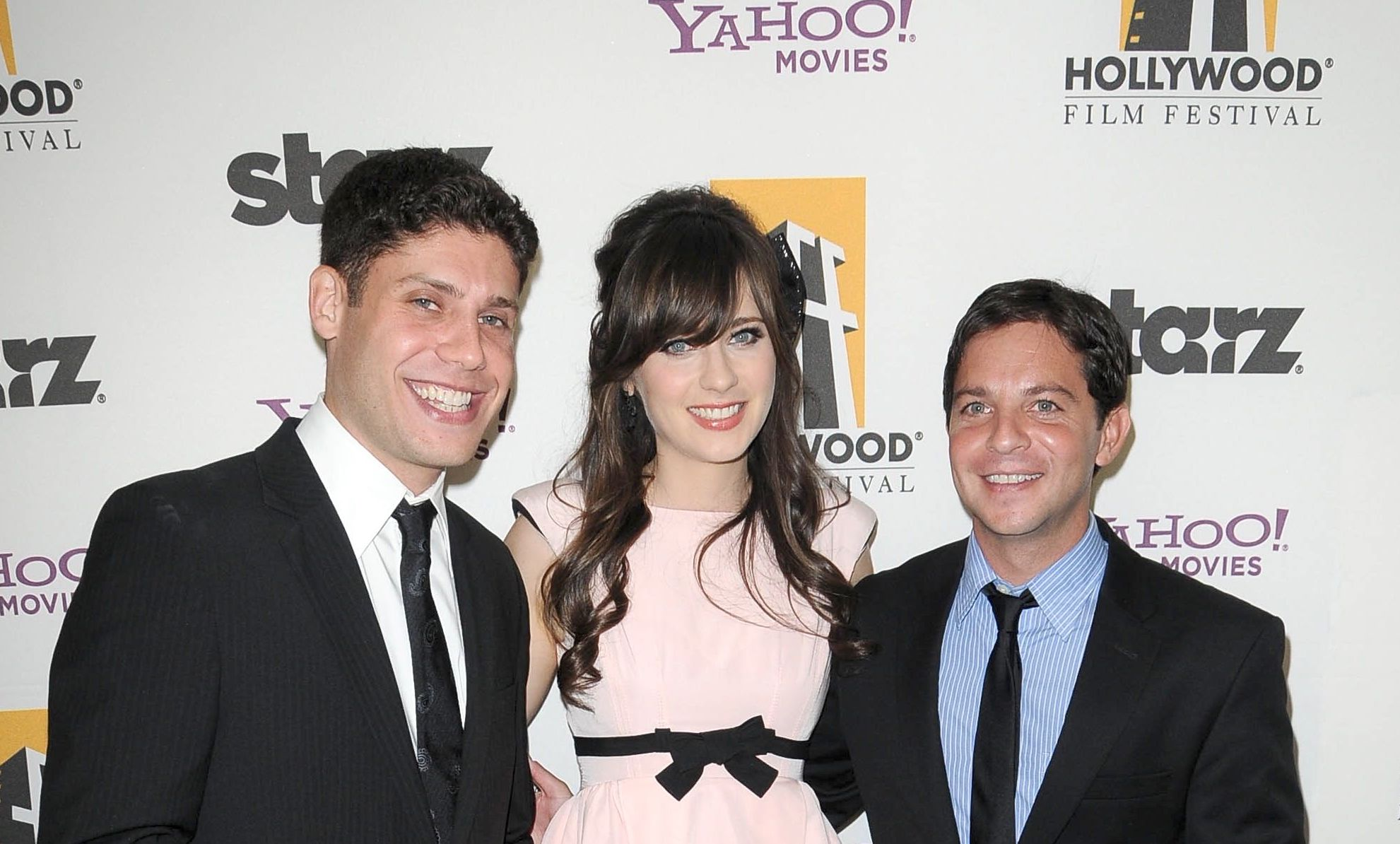 Michael H Weber, Zooey Deschanel and Scott Neustadter2009 Hollywood Film Awards at the Beverly Hilton Hotel in Beverly Hills, Los Angeles, America - 26 Oct 2009