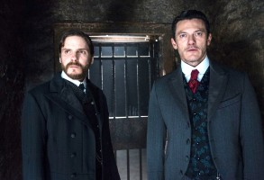"Daniel Bruhl and Luke Evans, ""The Alienist"""