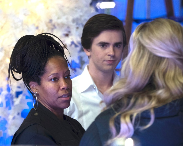 "Regina King and Freddie Highmore, ""The Good Doctor"""