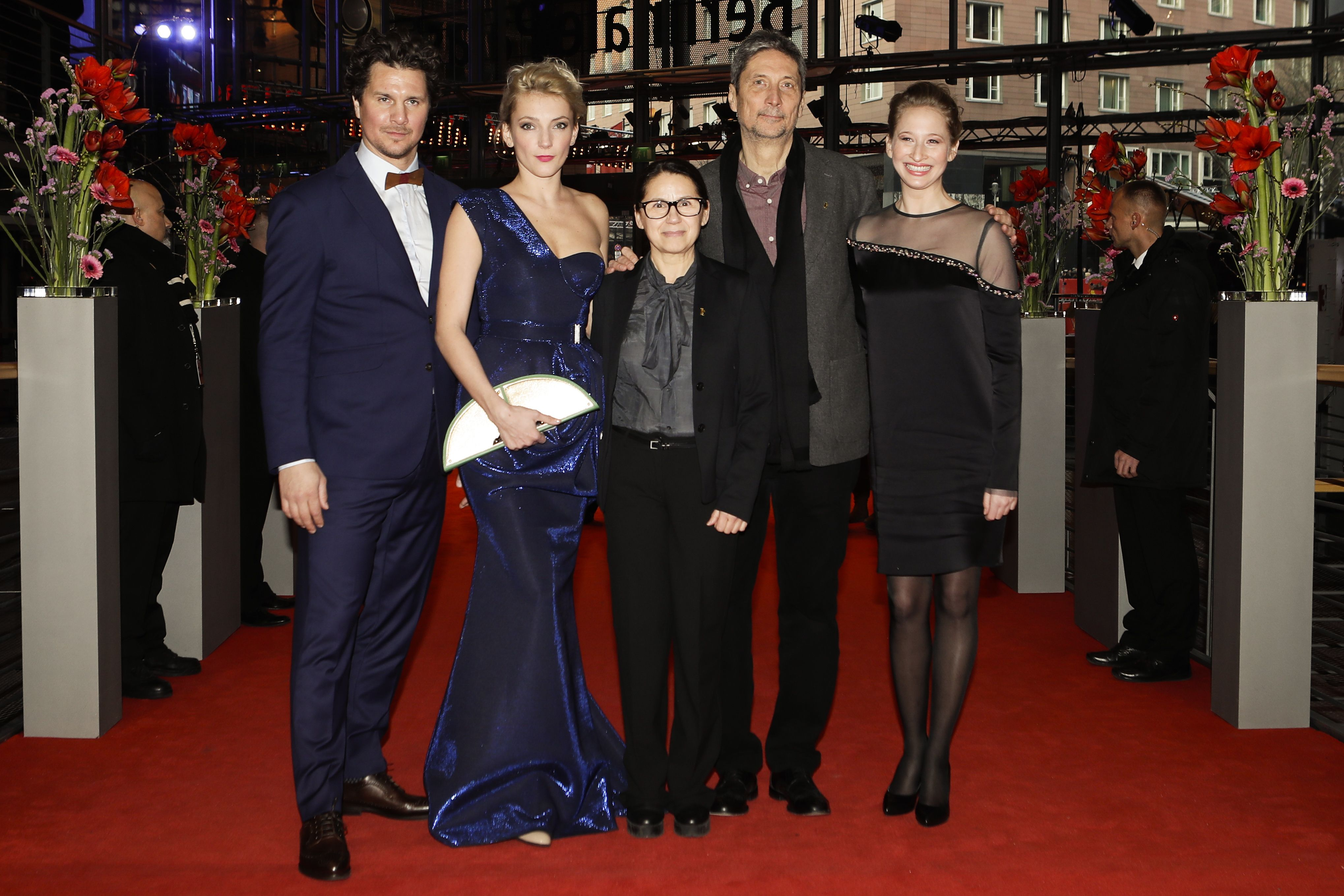 From left the actors Ervin Nagy, Alexandra Borbely, director Ildiko Enyedi and the actors Geza Morcsanyi and Reka Tenki arrive on the red carpet for the film 'On Body and Soul' at the 2017 Berlinale Film Festival in Berlin, GermanyFilm Festival 2017, Berlin, Germany - 10 Feb 2017