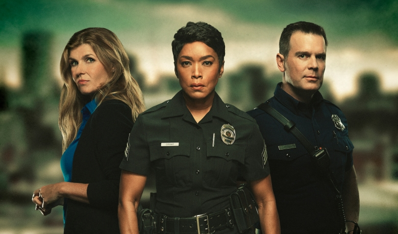 9-1-1: L-R: Connie Britton, Angela Bassett and Peter Krause: 9-1-1 premieres Wednesday, Jan. 3 (9:00-10:00 PM ET/PT) on FOX. CR: Mathieu Young / FOX. © 2017 FOX Broadcasting. CR: Mathieu Young / FOX. © 2018 FOX BROADCASTING