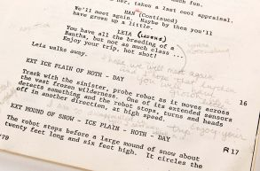 Carrie Fisher's personal hand-annotated shooting script from Star Wars: Episode V - The Empire Strikes Back.The working script which Star Wars actress Carrie Fisher used and annotated for her role as Princess Leia in the Empire Strikes Back has emerged for sale.The unique personal script is accompanied by the three leather bound scripts for the Star Wars trilogy that were given to the actors at the end of filming and signed by director George Lucas.Together the four items are tipped to sell for a combined £115,000.The star lot is Fisher's very own Empire Strikes Back script which contains over 1,000 notes written by her to help her act out her role.Auction of Carrie Fisher annotated Star Wars scripts, Los Angeles, USA - Oct 2017The working script which Star Wars actress Carrie Fisher used for her role as Princess Leia in the Empire Strikes Back has emerged for sale. It contains over 1,000 handwritten notes, including tweaks to the script in crucial scenes with Harrison Ford's character Han Solo in the 1980 film. Fisher, who died aged 60 in December last year, revealed in her autobiography that the pair had a steamy romance on the set of 1977's Star Wars: Episode IV - A New Hope. The Empire Strikes Back script is accompanied by the three leatherbound scores for the Star Wars trilogy that were given to the actress, and signed by director George Lucas. Together, the four items are tipped to sell for £115,000 at auction later this month.