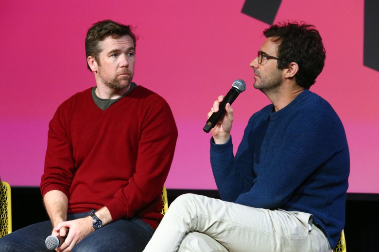 ATLANTA, GA - FEBRUARY 02: Co-creators and writers, actor Patrick Brammall (L) and director Trent O'Donnell speak during a screening and Q&A for 'No Activity' on Day 2 of the SCAD aTVfest 2018 on February 2, 2018 in Atlanta, Georgia. (Photo by Astrid Stawiarz/Getty Images for SCAD aTVfest 2018 )