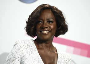 Viola Davis poses in the press room at the American Music Awards at the Microsoft Theater, in Los Angeles2017 American Music Awards - Press Room, Los Angeles, USA - 19 Nov 2017