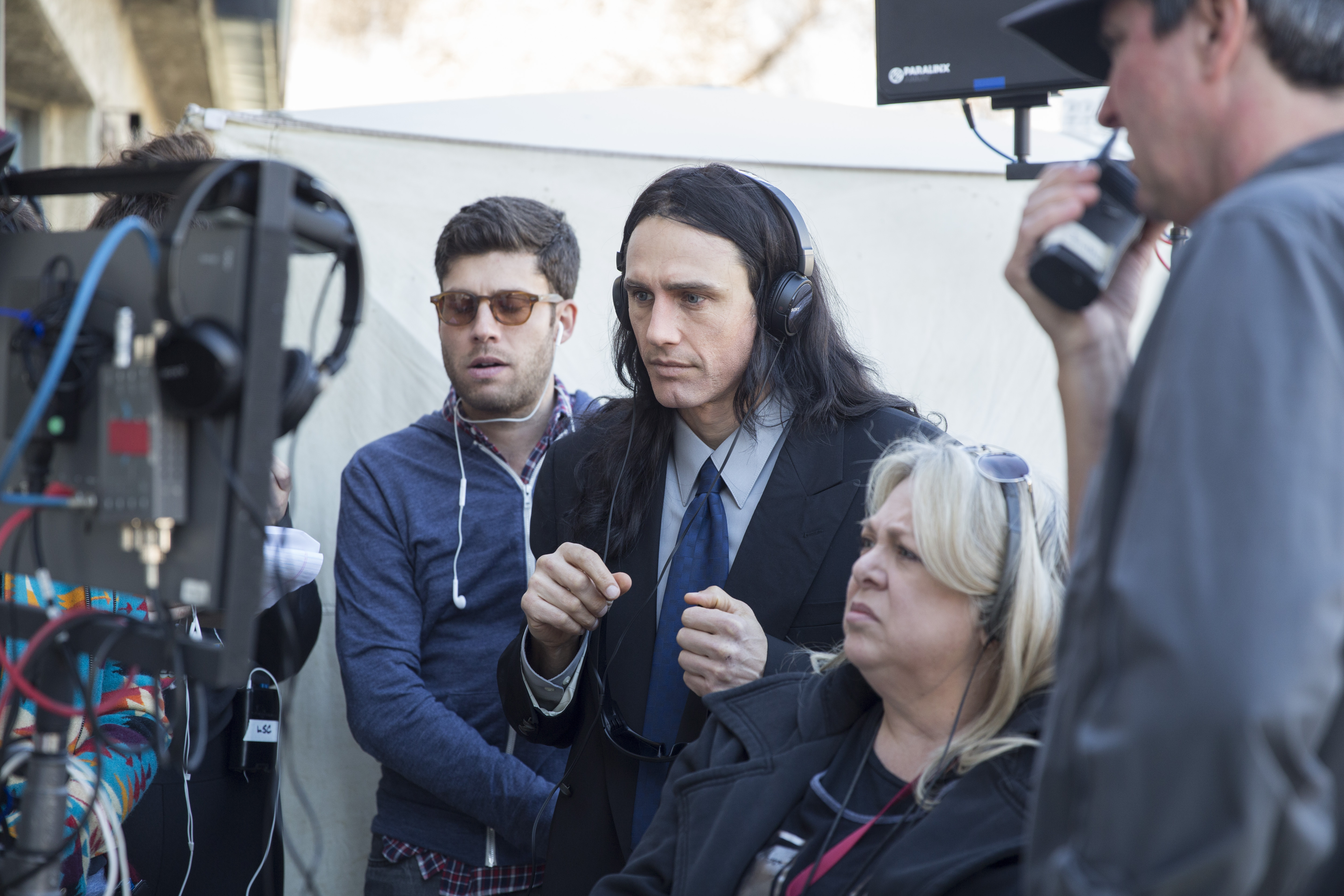 "No Merchandising. Editorial Use Only. No Book Cover UsageMandatory Credit: Photo by Justina Mintz/Warner Bros/Kobal/REX/Shutterstock (9238223b)Michael H. Weber, James Franco""The Disaster Artist"" Film- 2017"