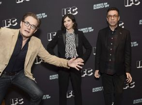 Kyle MacLachlan, Carrie Brownstein, Fred Armisen. Kyle MacLachlan, from left, Carrie Brownstein, and Fred Armisen attend the IFC Winter TCA Press Tour at the Langham Huntington Hotel on in Pasadena, CalifIFC TCA Panels, Pasadena, USA - 12 Jan 2018