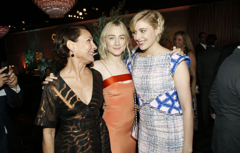Laurie Metcalf, Saoirse Ronan, Greta Gerwig90th Academy Awards Nominees Luncheon - Inside, Beverly Hills, USA - 05 Feb 2018