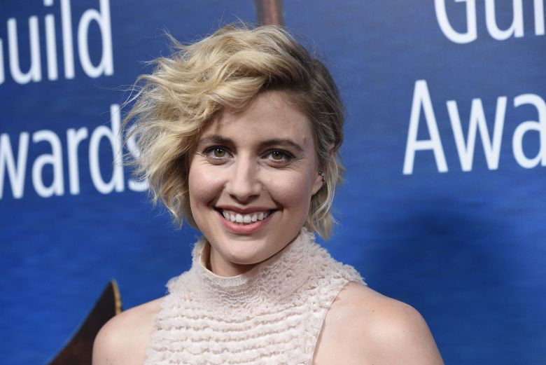 "Greta Gerwig, writer/director of the film ""Lady Bird,"" poses at the 2018 Writers Guild Awards at the Beverly Hilton, in Beverly Hills, Calif2018 Writers Guild Awards, Beverly Hills, USA - 11 Feb 2018"