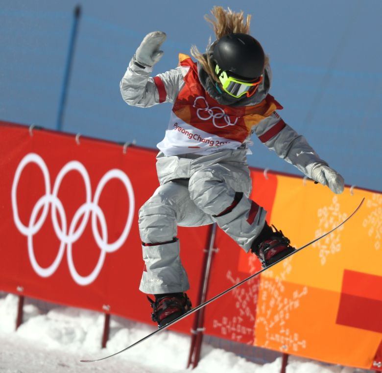 Chloe Kim of the US in action during the Women's Snowboard Halfpipe final at the Bokwang Phoenix Park during the PyeongChang 2018 Olympic Games, South Korea, 13 February 2018.Snowboard - PyeongChang 2018 Olympic Games, Bongpyeong-Myeon, Korea - 13 Feb 2018